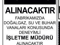 MÜHENDİS ARANIYOR!