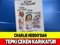 CHARLİE HEBDO'DAN TEPKİ ÇEKEN KARİKATÜR