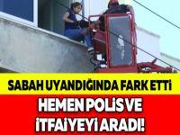 SABAH UYANDIĞINDA FARK ETTİ, HEMEN POLİS VE İTFAİYEYİ ARADI!