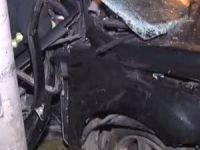 Çayırova'da alkollü sürücü elektrik direğine çarptı
