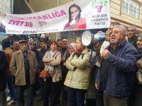 HDP'nin basın açıklamasına izin verilmedi