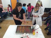 GESMEK'li çocuklar Ebru öğreniyor