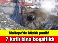 Maltepe'de büyük panik! 7 katlı bina boşaltıldı