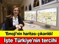 'Emoji'nin haritası çıkarıldı! İşte Türkiye'nin tercihi