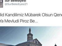 Kayyum Atanan Belediyeden İki Dille Kandil Kutlaması