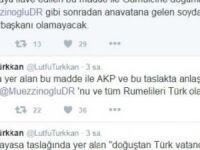 MHP'li Türkkan: Teklife Göre Rumelililer Cumhurbaşkanı Olamayacak