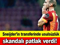 Sneijder'in transferinde usulsüzlük skandalı patlak verdi!