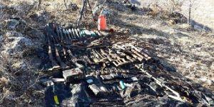 Hasankeyf'te PKK'ya ait çok sayıda silah ve mühimmat ele geçirildi