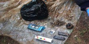 Bomba ihbarı üzerine harekete geçen polis ormanda ele geçirdi