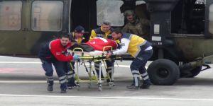 El Bab şehidi ve yaralı 2 asker Gaziantep'e getirildi