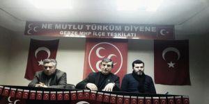 MHP Gebze'de SKM Başkanlığına Erdal Kabaca getirildi