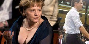 Merkel'in göğüsleri out, Justin'in kalçaları in