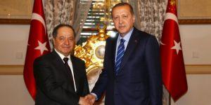 Cumhurbaşkanı Erdoğan Mesut Barzani 'yi Kabul Etti