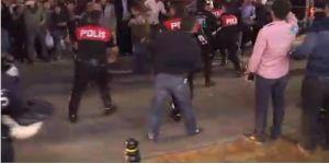 Polise saldıran Suriyelilere linç girişimi