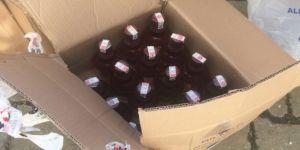 Yalova'da 110 şişe sahte içki ele geçirildi