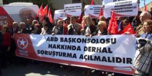 ABD Başkonsolosluğu önünde 'Adil Öksüz' protestosu