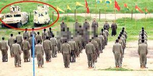 PKK'nın gösteri töreninde skandal görüntü