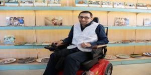 Emekli olan engelli vatandaştan örnek davranış