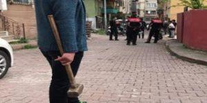 Kocaeli'de komşuya balyozlu saldırı
