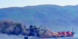 İzmit Körfezi'nde LPG Yüklü Tanker Alev Alev Yandı