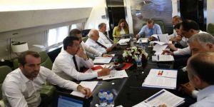 Cumhurbaşkanı Erdoğan'ın uçağında MHP'li Saffet Sancaklı