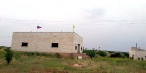 Türkiye'nin Vurduğu YPG Binalarına Rusya Bayrağı Çekti