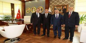 Başkan Baran'a Mhp İl Başkanı Ünlü'den Ziyaret