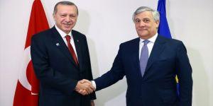 Erdoğan, Tajani'yi kabul etti!