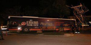 Halk Otobüsü Yüksek Gerilim Hattına Çarptı: Faciadan Dönüldü