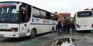 Türkmenleri taşıyan minibüs tarandı