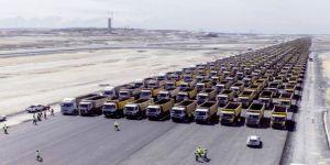 3. havalimanı çalışanlarından 1453 Kamyonla Rekor Denemesi