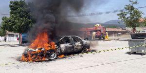 Ünlü Rallici Burcu Çetinkaya Bucak'ın Aracı Yandı