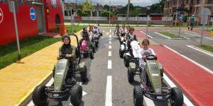 Çocuk Trafik Eğitim Parkında Eğitimler Sürüyor