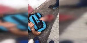 Küçük Kızı Kaçırdığı İddia Edilen Şahsa Linç Girişimi Kamerada
