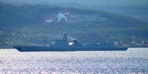 Çin savaş gemileri Boğaz'dan geçti !