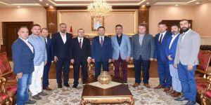 TÜKSİAD'dan Vali Aksoy'a ziyaret