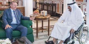 Katar'da dikkat çeken sürpriz görüşme