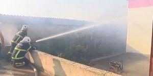 Gaziantep'te İplik Fabrikasında Yangın