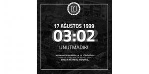 Başkan Yağcı'nın 1999 Depreminin 18. Yıl Dönümü Mesajı
