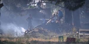 Burhaniye'de Ot Yangını Korkuttu