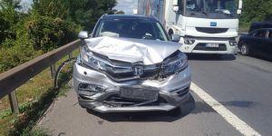 Kocaeli TEM'de trafik kazası: 4 yaralı