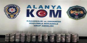 Alanya'da 27 Kilo Kaçak Nargile Tütünü Ele Geçirildi