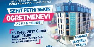 Küçükçekmece Belediyesi Şehit Fethi Sekin Öğretmenevi Hizmete Açılıyor