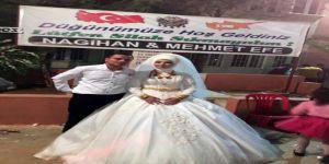 Düğünde Magandalara Pankartlı Mesaj