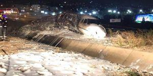 Atatürk Havalimanı'nda yanan jet'in dizi görüntüleri ortaya çıktı