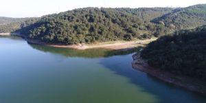 Su Seviyesi Azalan Alibeyköy Barajı Havadan Görüntülendi