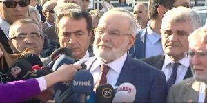 Saadet Partisi Genel Başkanı Karamollaoğlu, Baykal'ı Ziyaret Etti