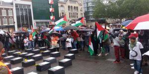 Berlin'de İsrail katliamı protesto edildi