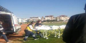 Tiner Dökülen Soba Patladı: 1 Yaralı