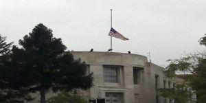 Abd Büyükelçiliğinde Bayraklar Yarıya İndirildi